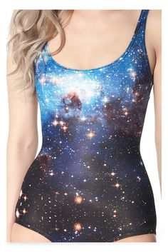2014 Cover-ups Tankinis Set GALAXY BLUE SWIMSUIT - LIMITED One Piece Digital Print Bathing Suit Swimwear Women