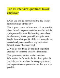 Top 10 interview questions to ask employerYou can find Job interview questions and more on our website.Top 10 interview questions to ask employer Questions To Ask Employer, Job Interview Answers, Interview Questions To Ask, Job Interview Preparation, Job Interview Tips, Interview Nerves, Assistant Principal Interview Questions, Teaching Interview Outfit, Interview Tips Weaknesses