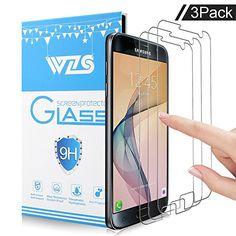 awesome Protector de pantalla Galaxy S7, WZS® Cristal Vidrio Templado Premium Para Samsung Galaxy S7 …