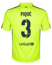 14-15 Football Shirt Barcelona Cheap Pique  3 Away Third Green Jersey  A189 52bf3d19f