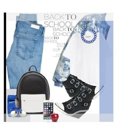 """""""Back to School: Denim Guide..."""" by unamiradaatuarmario ❤ liked on Polyvore featuring H&M, Acne Studios, Ash, AG Adriano Goldschmied, Opening Ceremony, PB 0110, Marc by Marc Jacobs, BaubleBar, Linda Farrow and BackToSchool"""