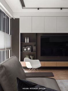 Modern home design Living Room Wall Units, Home Living Room, Interior Design Living Room, Living Room Designs, Living Room Decor, Painel Tv Sala Grande, Wall Unit Designs, Tv Wall Design, Interior Design Tips