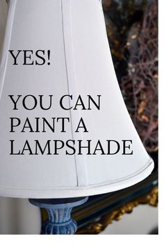 Did you know that you can paint a lamp shade? I will show you how to completely change the look of your favorite lamp and lampshade using chalk paint. lamp shade makeover Yes! You can paint a Lampshade. Recover Lamp Shades, Old Lamp Shades, Painting Lamp Shades, Painting Lamps, Diy Painting, White Lamp Shade, Lampshade Redo, Fabric Lampshade, Lamp Redo