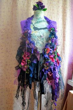 Bohemian shawl capelet victorian scarf embellished capelet