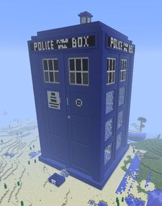 The TARDIS House--a House Built for Creative Mode « Minecraft