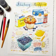 Custom recipe painting - Original watercolor painting