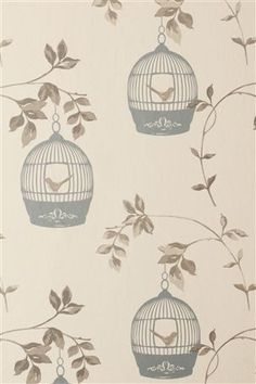 Birdcage wallpaper from Next - debating this for my living room but can't decide if it'll match my sofa :-(