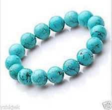 Tibet Blue Turquoise Beads Bracelet Bangle Gemstone 8MM