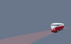 This HD wallpaper is about white and red Volkswagen van, minimalism, vw bus, copy space, Original wallpaper dimensions is file size is