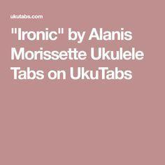 Ironic chords & lyrics - Alanis Morissette - Jellynote