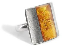 Ring Amber Silver Triangle by Tezsahcom https://www.etsy.com/listing/465525614/ring-amber-silver-triangle?ref=rss