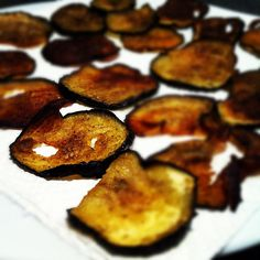 Eggplant crisps, the lengths you go to when you shy away from carbs... #paleo #crossfit by Manne, via Flickr