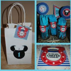 Ideas for Rafael's Birthday First Birthday Parties, 3rd Birthday, First Birthdays, Birthday Ideas, Mickey Mouse Parties, Mickey Mouse Birthday, Nautical Mickey, Sailor Party, Lunch Box