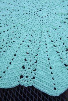 A Beautiful Crochet Lacy Twelve-Point Star Blanket