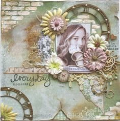 Everyday Moments *Maja Design & MLYB & Tressors De Luxe** - Scrapbook.com - GABRIELLE POLLACO 6 x 6 MINI BRICKS TEMPLATE