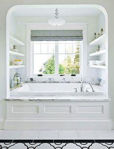 Home design office bedrooms de casas interior design Bad Inspiration, Bathroom Inspiration, Bathroom Ideas, Design Bathroom, Light Bathroom, Bathroom Shelves, Bathroom Storage, Wainscoting Bathroom, Bathroom Plants