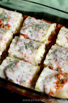 Lasagna Roll Ups Recipe.