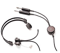 386f4c5267c Plantronics MS50   T30-3 Light Aviation Headset with PJ-058 and PJ-