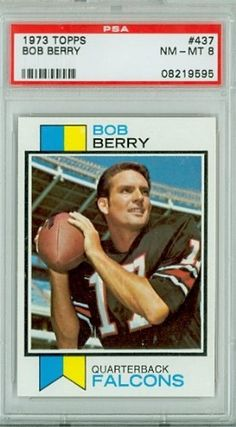 1973 Topps Football 437 Bob Berry Falcons PSA 8 Near-Mint to Mint by Topps. $7.00. This vintage card featuring Bob Berry is # 437 from the 1973 Topps Football set