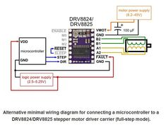 pololu minimal wiring diagram for connecting a microcontroller to rh pinterest com Off-Grid Wiring Diagrams Ford XLT 4 0 Ignition Switch Wiring Diagram