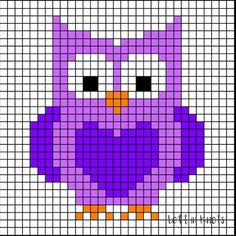 Grids for Kids Forest Friends: Crochet Owl Square — Left in Knots - Grids for Kids is back with a woodland animal theme this week! Grids for Kids – Forest Friends - Owl Patterns, Square Patterns, Quilt Patterns, Crochet Patterns, Crochet Owl Blanket, Crochet Blocks, Crochet Squares, Graph Paper Drawings, Woodland Animals Theme