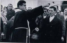 Croatian priest converts a Orthodox-Christian Serb to Catholic Religion ,forced by the Croatian Nazi WWII regime.