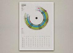 Creative Calendar Design Ideas For 2014 - Infographic Calender