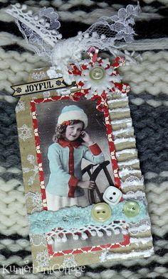 ... for Tag Tuesday hosted by Carolyn . It is a wonderful challenge and so fitting for the season: Snow. I started with a corrugated card fr...