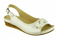 Cotswold Churn Ladies Peep Toe Slingback Sandal With Bow Trim - Robin Elt Shoes  http://www.robineltshoes.co.uk/store/search/brand/Cotswold-Ladies/ #Spring #Summer #SS14 #2014 #Sandals
