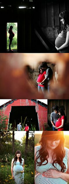 I like the different feels of this set of maternity pictures
