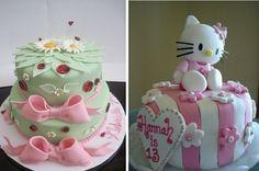 gâteaux anniversaire avec coccinelles et Hello Kitty par Sanrio