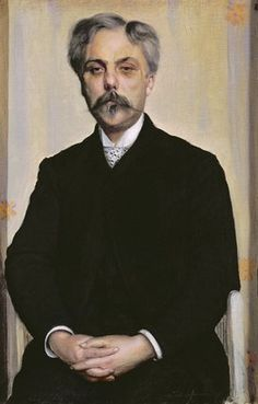 Portrait of Gabriel Faure c.1887 by Jacques-Emile Blanche (1861-1942)....Fauré (1845-1924) was a French composer, organist, pianist and teacher, who was one of the foremost French composers of his generation, and whose style influenced many 20th-century composers.