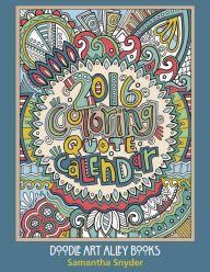 2016 Coloring Quote Calendar