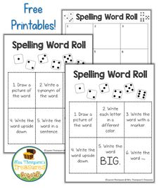 8 Fun Spelling Word Activities (Word Work)