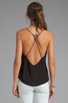 Ladakh Studded Heart Cami in Black