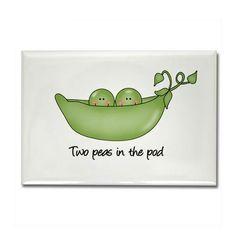 Two Peas in the Pod Keepsake Box