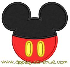 Mickey Mouse Ears Buttons Applique, Applique Avenue Embroidery Designs