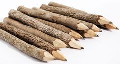 how to make twig pencils - could maybe do this for the cub scout bear claws adventure