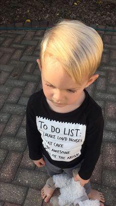 Toddler boy haircur