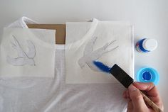 How to Make a Stenciled T-Shirt