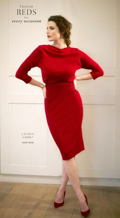 Little Red Dresses. Fashion for busty women with C to H cup size boobs. Shop online for dresses, cocktail dresses, party styles, jumpsuits, work dresses, tops, jackets & coats at www.saintbustier.com