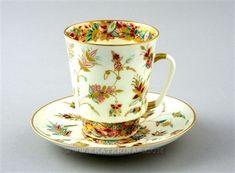 Ekaterina's Imperial Porcelain &Tea. Golden Twigs Cup& Saucer