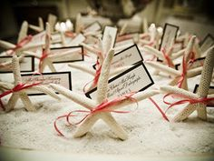 Starfish Wedding Reception party Favors gifts, or tabletop decor, beach theme, nautical shells, add tags, labels; Upcycle, Recycle, Salvage, diy, thrift, flea, repurpose!  For vintage ideas and goods shop at Estate ReSale  ReDesign, Bonita Springs, FL