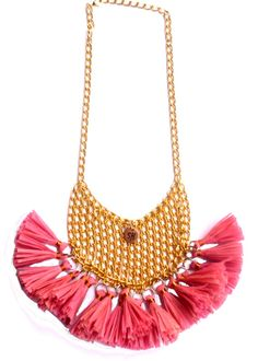 SHORT NECKLACE TASSEL many colors available exotic di SissiHand