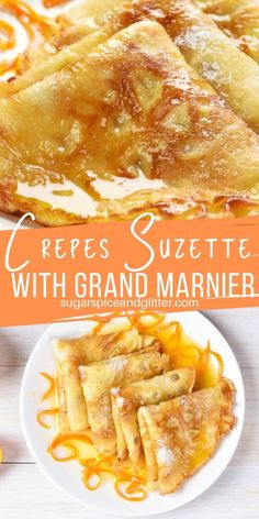 brunch ideen A delicious boozy brunch recipe, these Crepes Suzette are served in a luscious Grand Marnier caramel sauce for a decadent French brunch Crepe Recipes, Brunch Recipes, Breakfast Recipes, Sweet Breakfast, Breakfast Dessert, Dessert Recipes, Grand Marnier, Authentic French Crepes Recipe, Gastronomia