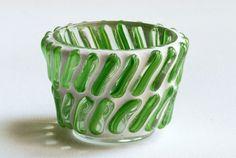 Green Sticks - Mosaic candle holder