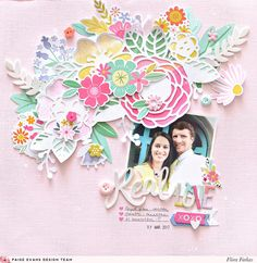 Real Love layout by Flóra Farkas for @paigeevans @pinkpaislee #scrapbooking