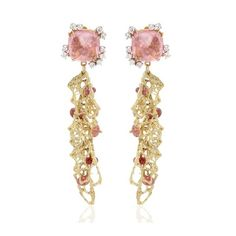 MAURO FELTER Pink Afghan Tourmaline Earrings ($11,986) ❤ liked on Polyvore