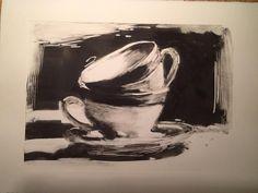 Hagit Shahal. Cups, Monotype