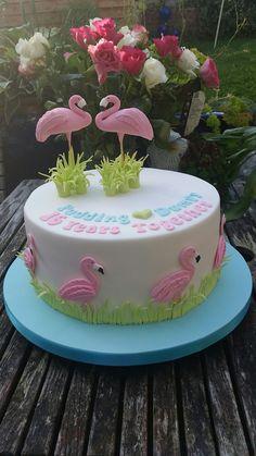 Flamingo anniversary cake